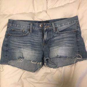lucky brand frayed jean shorts